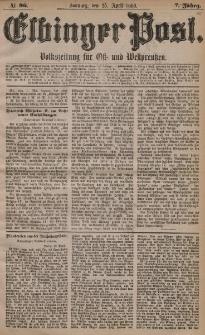 Elbinger Post, Nr. 96, Sonntag 25 April 1880, 7 Jahrg.