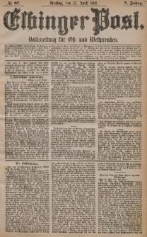 Elbinger Post, Nr. 97, Dienstag 27 April 1880, 7 Jahrg.