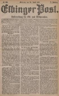 Elbinger Post, Nr. 98, Mittwoch 28 April 1880, 7 Jahrg.