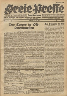 Freie Presse, Nr. 34 Freitag 20. Mai 1927 3. Jahrgang