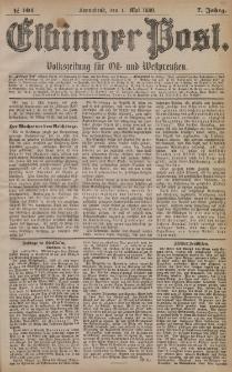 Elbinger Post, Nr. 101, Sonnabend 1 Mai 1880, 7 Jahrg.