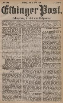 Elbinger Post, Nr. 103, Dienstag 4 Mai 1880, 7 Jahrg.