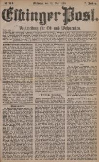 Elbinger Post, Nr. 114, Mittwoch 19 Mai 1880, 7 Jahrg.