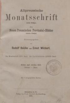 Altpreussische Monatsschrift, 1889, Januar-März, Bd. 26