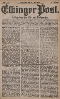 Elbinger Post, Nr. 115, Donnerstag 20 Mai 1880, 7 Jahrg.