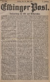 Elbinger Post, Nr. 122, Freitag 28 Mai 1880, 7 Jahrg.