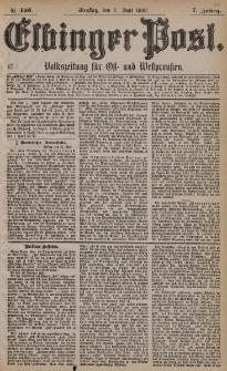 Elbinger Post, Nr. 125, Dienstag 1 Juni 1880, 7 Jahrg.