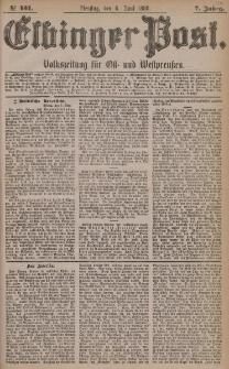 Elbinger Post, Nr. 131, Dienstag 8 Juni 1880, 7 Jahrg.