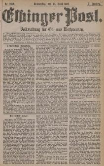 Elbinger Post, Nr. 133, Donnerstag 10 Juni 1880, 7 Jahrg.
