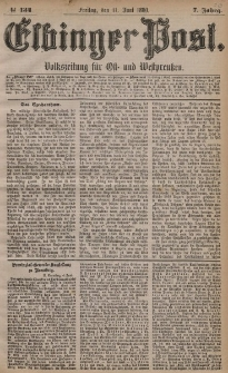 Elbinger Post, Nr. 134, Freitag 11 Juni 1880, 7 Jahrg.