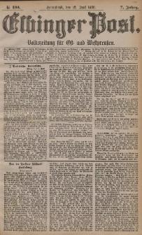 Elbinger Post, Nr. 135, Sonnabend 12 Juni 1880, 7 Jahrg.