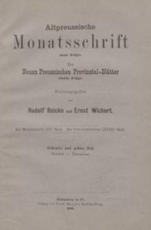 Altpreussische Monatsschrift, 1888, Oktober-Dezember, Bd. 25