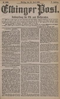 Elbinger Post, Nr. 143, Dienstag 22 Juni 1880, 7 Jahrg.