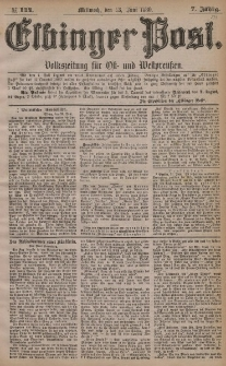 Elbinger Post, Nr. 144, Mittwoch 23 Juni 1880, 7 Jahrg.