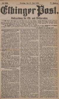 Elbinger Post, Nr. 148, Sonntag 27 Juni 1880, 7 Jahrg.