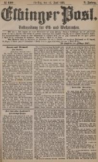 Elbinger Post, Nr. 149, Dienstag 29 Juni 1880, 7 Jahrg.