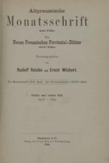 Altpreussische Monatsschrift, 1886, April-Juni, Bd. 23
