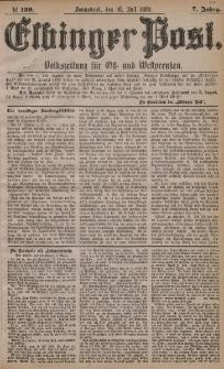 Elbinger Post, Nr. 159, Sonnabend 10 Juli 1880, 7 Jahrg.