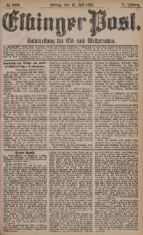 Elbinger Post, Nr. 164, Freitag 16 Juli 1880, 7 Jahrg.