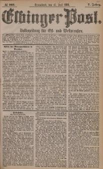 Elbinger Post, Nr. 165, Sonnabend 17 Juli 1880, 7 Jahrg.
