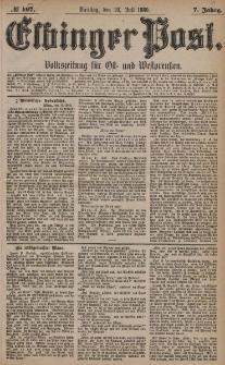 Elbinger Post, Nr. 167, Dienstag 20 Juli 1880, 7 Jahrg.
