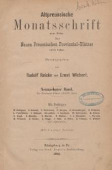 Altpreussische Monatsschrift, 1882, Bd. 19