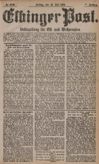 Elbinger Post, Nr. 170, Freitag 23 Juli 1880, 7 Jahrg.