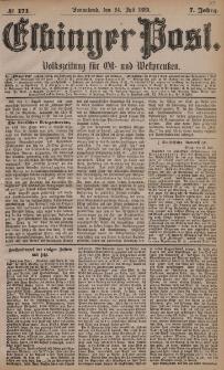 Elbinger Post, Nr. 171, Sonnabend 24 Juli 1880, 7 Jahrg.