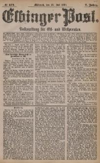 Elbinger Post, Nr. 174, Mittwoch 28 Juli 1880, 7 Jahrg.