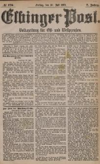 Elbinger Post, Nr. 176, Freitag 30 Juli 1880, 7 Jahrg.