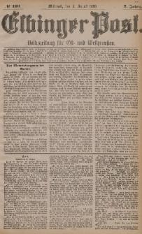 Elbinger Post, Nr. 180, Mittwoch 4 August 1880, 7 Jahrg.