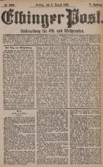 Elbinger Post, Nr. 182, Freitag 6 August 1880, 7 Jahrg.