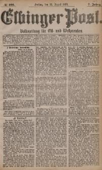 Elbinger Post, Nr. 188, Freitag 13 August 1880, 7 Jahrg.