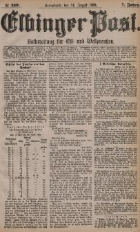 Elbinger Post, Nr. 189, Sonnabend 14 August 1880, 7 Jahrg.