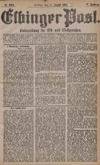 Elbinger Post, Nr. 191, Dienstag 17 August 1880, 7 Jahrg.