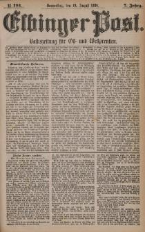 Elbinger Post, Nr. 193, Donnerstag 19 August 1880, 7 Jahrg.