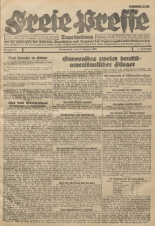 Freie Presse, Nr. 6 Sonnabend 7. Januar 1928 4. Jahrgang
