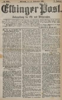 Elbinger Post, Nr. 222, Mitwoch 22 September 1880, 7 Jahrg.