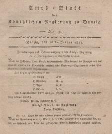 Amts-Blatt der Königlichen Regierung zu Danzig, 16. Januar 1817, Nr. 3