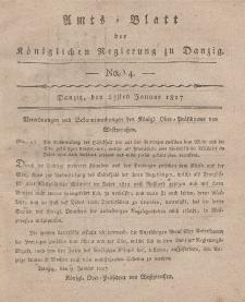 Amts-Blatt der Königlichen Regierung zu Danzig, 23. Januar 1817, Nr. 4