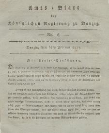 Amts-Blatt der Königlichen Regierung zu Danzig, 6. Februar 1817, Nr. 6