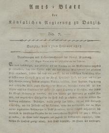 Amts-Blatt der Königlichen Regierung zu Danzig, 13. Februar 1817, Nr. 7