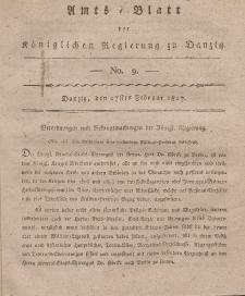 Amts-Blatt der Königlichen Regierung zu Danzig, 27. Februar 1817, Nr. 9