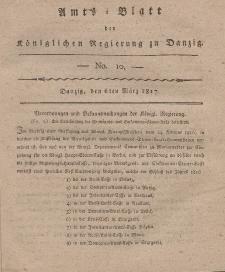 Amts-Blatt der Königlichen Regierung zu Danzig, 6. März 1817, Nr. 10
