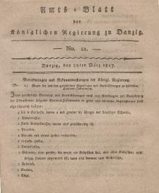 Amts-Blatt der Königlichen Regierung zu Danzig, 20. März 1817, Nr. 12