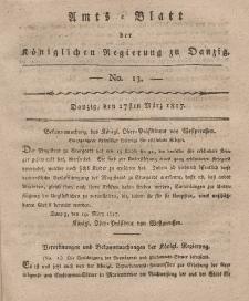 Amts-Blatt der Königlichen Regierung zu Danzig, 27. März 1817, Nr. 13