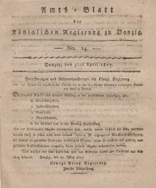 Amts-Blatt der Königlichen Regierung zu Danzig, 3. April 1817, Nr. 14