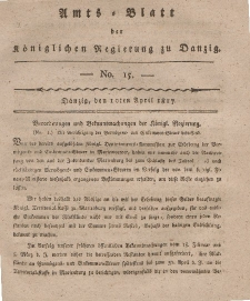 Amts-Blatt der Königlichen Regierung zu Danzig, 10. April 1817, Nr. 15