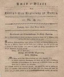 Amts-Blatt der Königlichen Regierung zu Danzig, 1. Mai 1817, Nr. 18