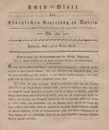 Amts-Blatt der Königlichen Regierung zu Danzig, 15. Mai 1817, Nr. 20